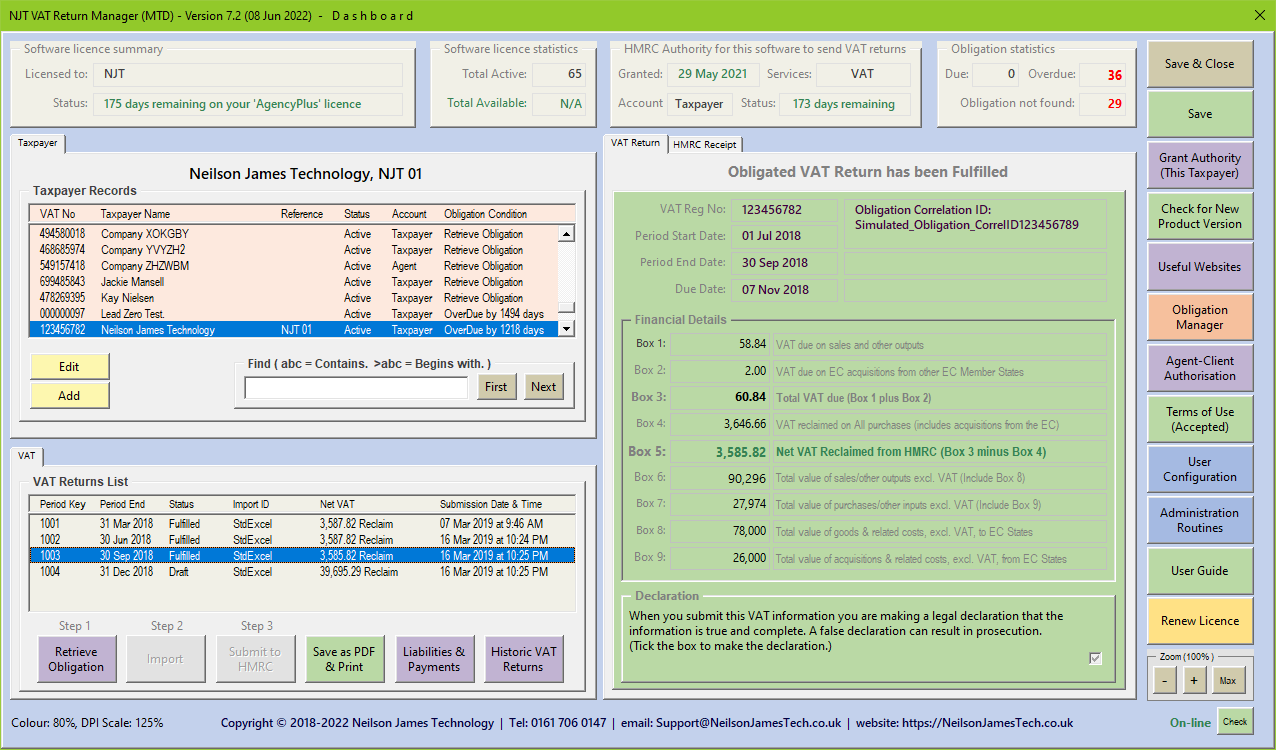 MTD Dashboard Example 3
